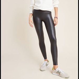 SPANX faux leather leggings S